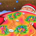"Illustrations of ""Christmas, Santa Claus, Starry sky, Village, Fantasy"""