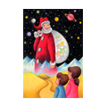 "Illustrations of ""Santa Claus, Children, Space, Fantasy christmas"""