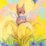 "Illustrations of ""Cat, Kitten, Fairy, Angel, Flower"""