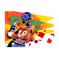 "Illustrations of ""American Football・American rugby・American football """