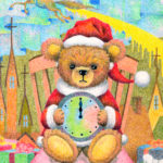 "Illustrations of ""Teddy bear, Dollhouse, Unicorn, Fantasy Christmas"""