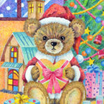 "Illustrations of ""Teddy bear, Christmas present, Silent Night, Christmas"""