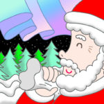 "Illustrations of ""Santa Claus, Christmas Eve, Starry sky, Forest"""