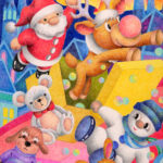 "Illustrations of ""Christmas Eve, Santa Claus, Reindeer, Doll"""