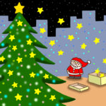 "Illustrations of ""Christmas tree, Tinkle Star, Christmas Eve, Starry sky"""