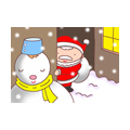 "Illustrations of ""Santa Claus, Snowman, Snowfall, White Christmas"""