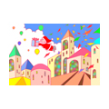 "Illustrations of ""Santa Claus, Christmas present, City, Festival"""