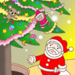 "Illustrations of ""Christmas tree, Tinsel garland, Christmas Eve, Doll"""