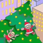 "Illustrations of ""Christmas tree, Tinkle Star, Reindeer, Christmas dolls"""