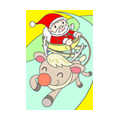 "Illustrations of ""Santa Claus, Reindeer, Sled, Christmas Eve"""