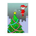 "Illustrations of ""Fir tree, Christmas tree, Decoration, Tinsel garland"""