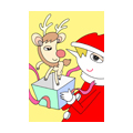 "Illustrations of ""Santa Claus, Reindeer, Christmas present, Christmas gift"""