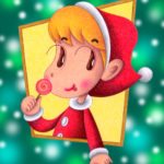 "Illustrations of ""Santa Claus, Cute girl, Child, Lollipop"""