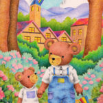 "Illustrations of ""Bear, Parent and child, After the rain, Hydrangea, Walk"""
