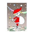 "Illustrations of ""Santa Claus, Snow country, Snowfall, White Christmas"""
