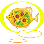 "Illustrations of ""Tropical fish, Sun flower, Fantasy, Aquarium fish"""