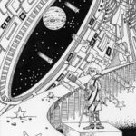 "Illustrations of ""Astronomical observation, Space, Meteor, Science fiction"""