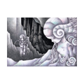 """Illustrations of """"Fossil, Ammonite, Alien, Outer planet, Astronaut"""""""
