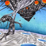 """Illustrations of """"Android, Humanoid, Spaceship, Capture"""""""