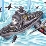 "Illustrations of ""Naval , Battleship, Fighter aircraft, War game"""