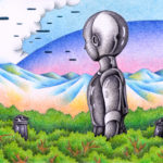 "Illustrations of ""Robot, Invader, Messenger, UFO, Spaceship"""