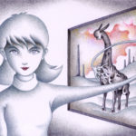"Illustrations of ""Mutant, Hybrid, New mankind, Beautiful girl, Psychics"""