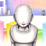"""Illustrations of """"Robot, Humanoid, Artificial intelligence, AI, Lab"""""""